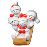 Ornament Sled Family 4