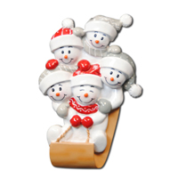 Ornament Sled Family 5