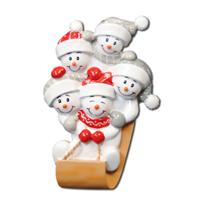Ornament Sled Family 5