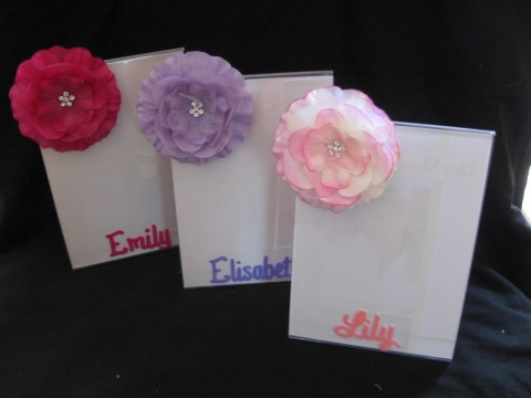 Picture frame 5x7 Lucite Flower Bling