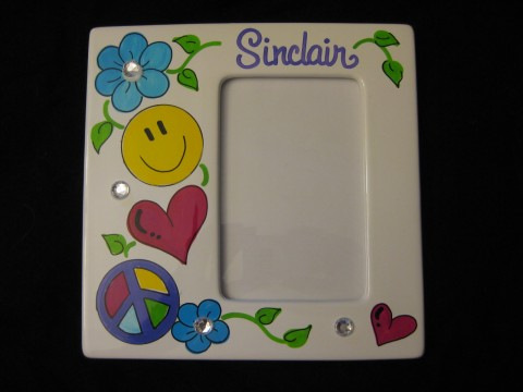 Picture Frame Ceramic 4x6 Groovy Girl
