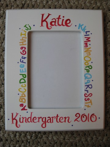 Picture Frame Kindergarten Graduation ABC