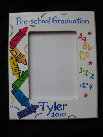 Picture Frame Kindergarten Graduation