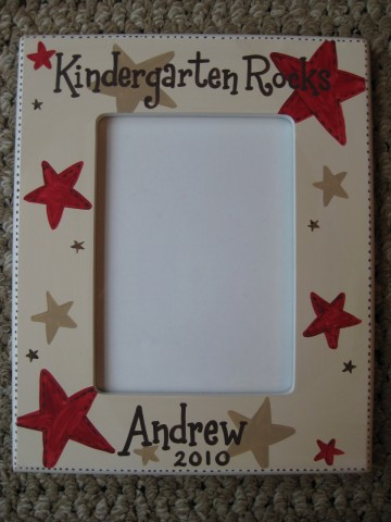 Picture Frame Kindergarten Rocks Red and Brown