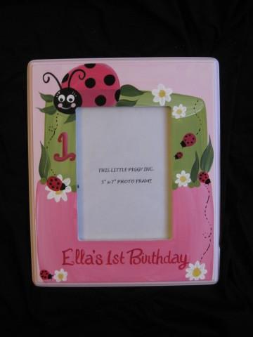 Picture Frame 5x7 Ladybug Cake