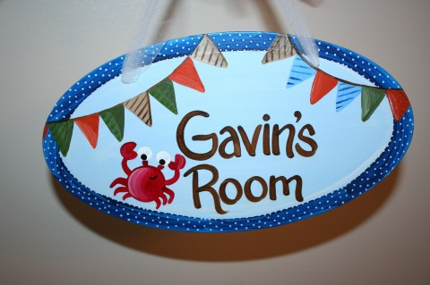 Door Sign Gavin Crab