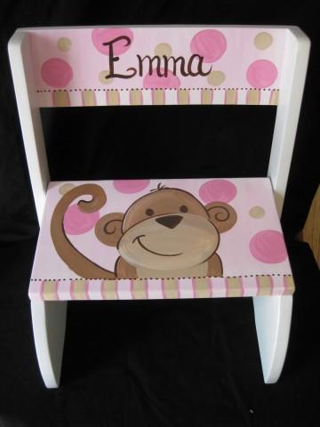 Chair Flip Step Stool Pink Monkey