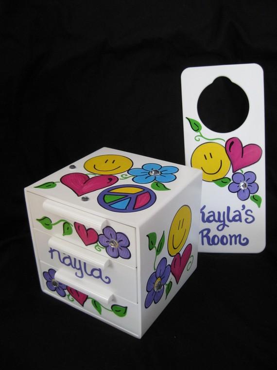 Jewelry Box and Door Hanger Hippie Chick