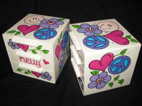 Jewelry Box Hippie Chick Bling Pink Purple