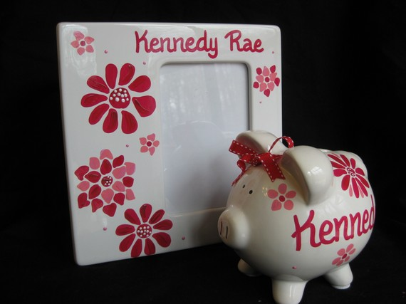 Small Piggy Bank and Picture Frame set Harlington