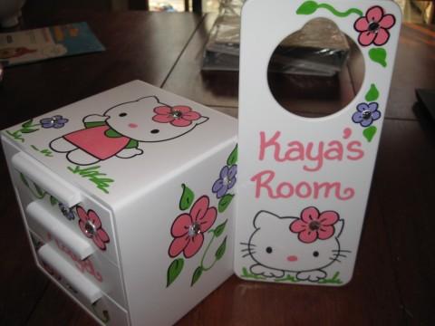 Jewelry Box and Door Hanger Hello Kitty
