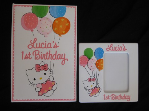 Photo Album and 4x6 Picture Frame Hello Kitty