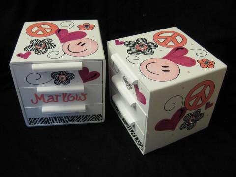 Jewelry Box Pink Zebra Hippie Chic