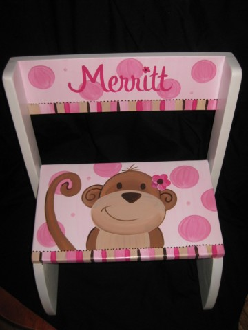 Chair Flip Step Stool Hot Pink Monkey