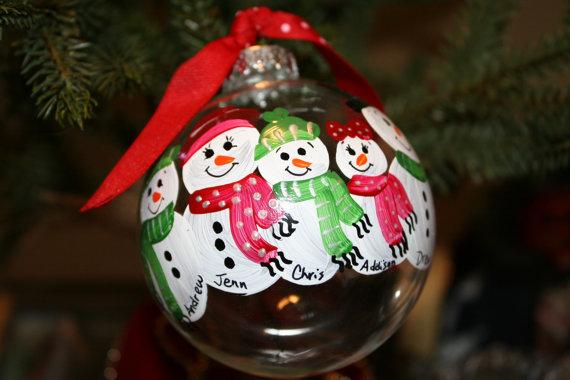 Ornament Snowman Families
