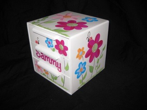 Jewelry Box Bling Organic Flowers