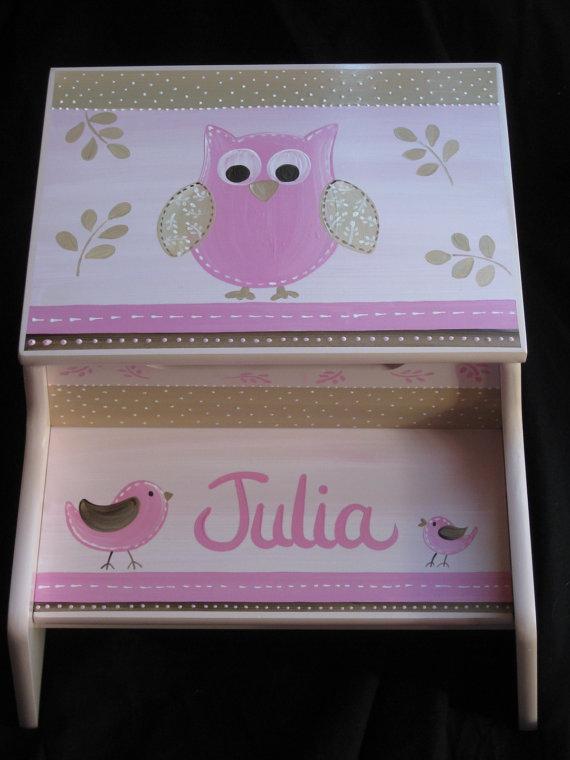 Storage Step Julia pink and brown owl