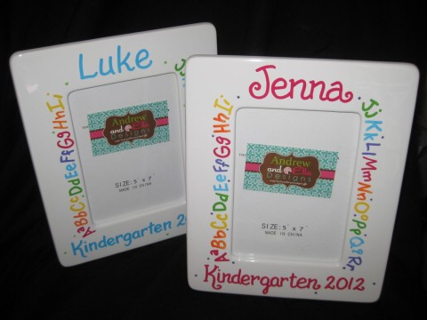 Picture Frame Graduation ABC's Boy or Girl