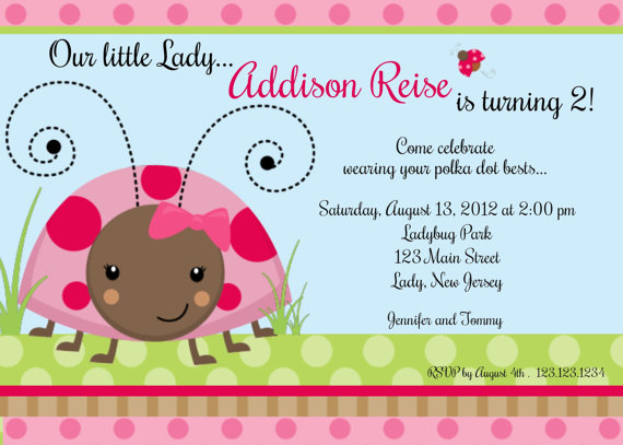 Invitation Print Yourself Little Lady