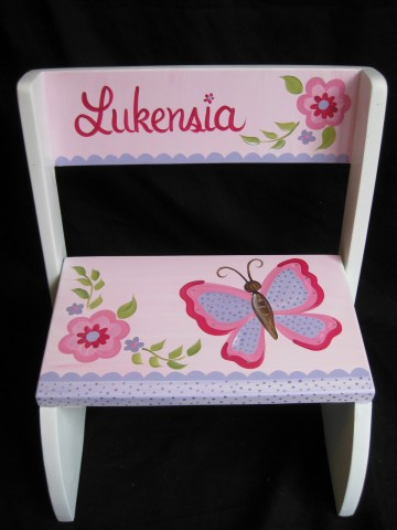 Chair Flip Step Stool Pink and Purple Gia