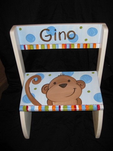 Chair Flip Step Stool Madras Monkey