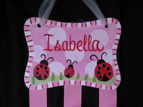Bow holder Miss Ladybug