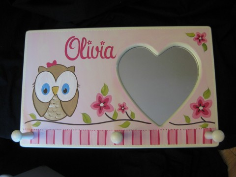 Mirror Clothes Rack Happy Owl