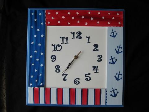 Wood Wall Clock Nautical Americana