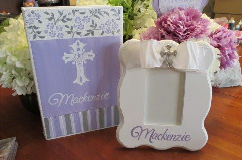Couture Cross Frame and Matching Photo Album Mackenzie