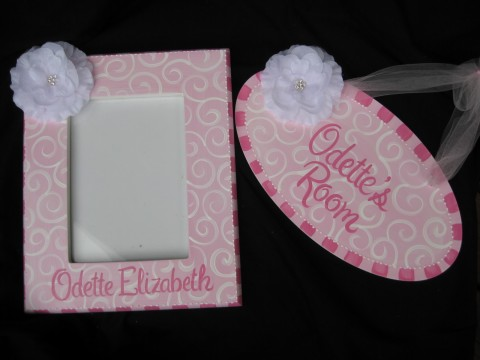 Gift Set White Flower Bling Swirl Collection