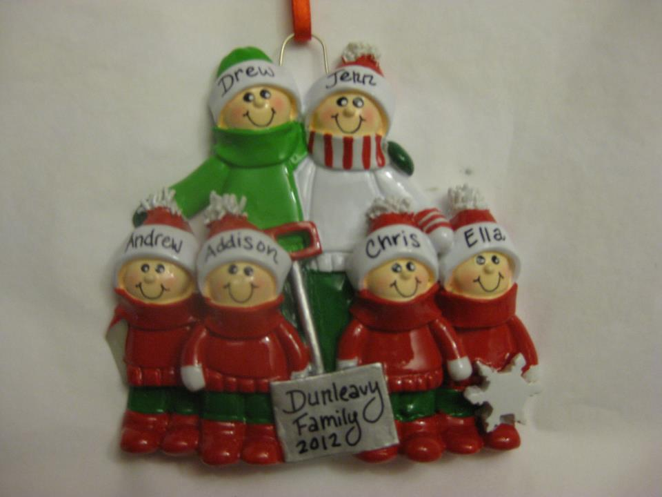Ornament Family of 6
