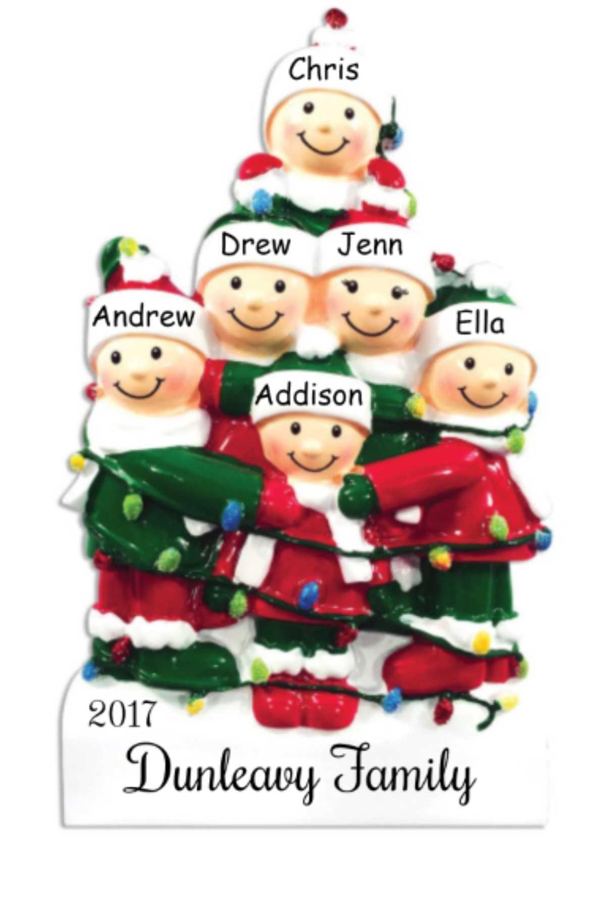 Ornament Light Family of 6