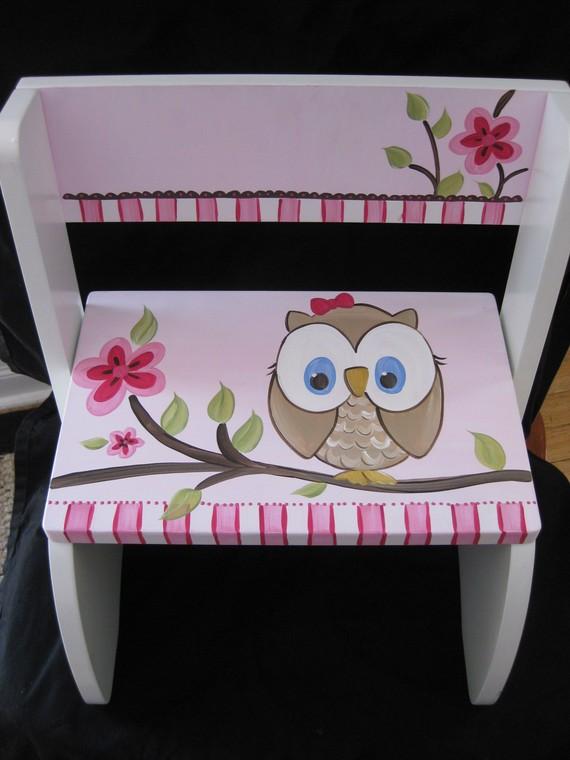 Chair Flip Step Stool Fun Owl