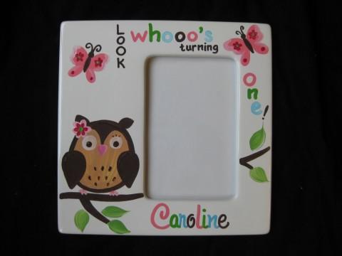 Picture Frame 5x7 Ceramic Carolines Owl