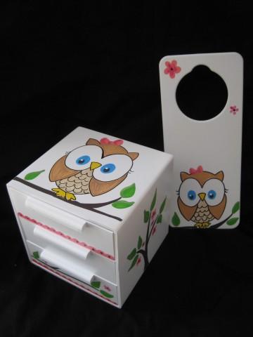 Jewelry Box and Door Hanger Fun Owl