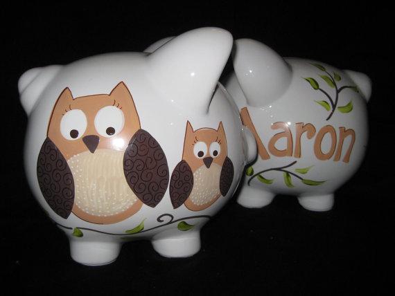 Piggy Bank Brown Owl