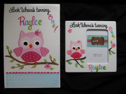 Photo Album and 4x6 Picture Frame Raylees Owl
