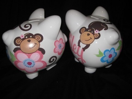 Piggy Bank Melanie the Monkey