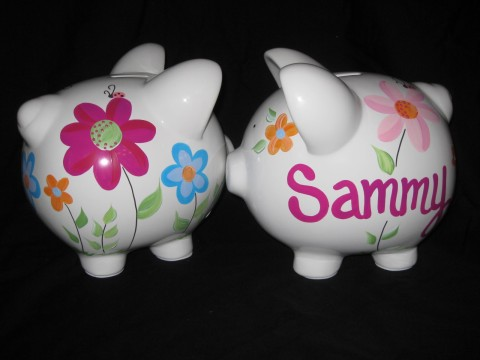 Piggy Bank Organic Flowers