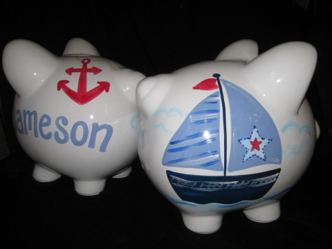 Piggy Bank Nautical Star
