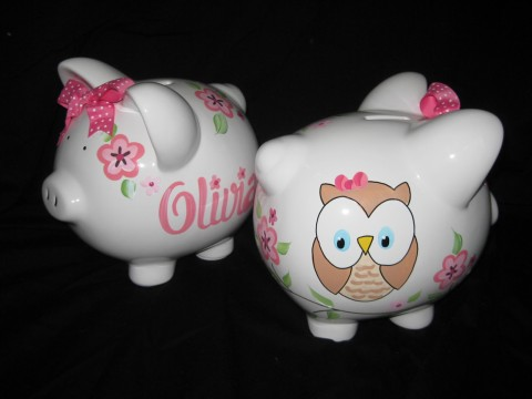 Piggy Bank Happy Owl