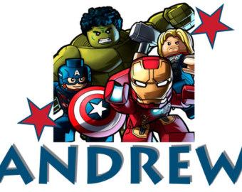 Pillow case lego Avengers