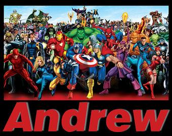 Pillow case Superhero comic style Avengers