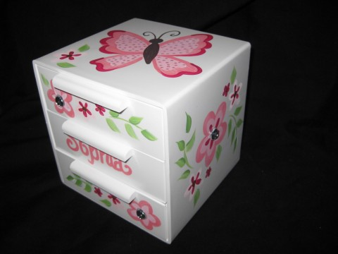 Jewelry Box Pink Butterfly