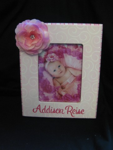 Picture Frame 5x7 Pink Flower Bling