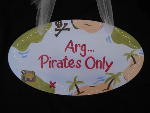 Door Sign Pirate Map