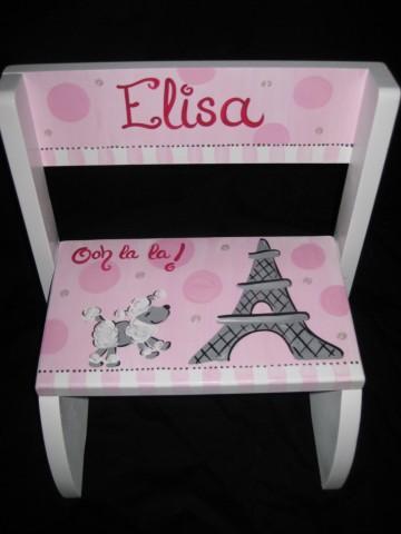 Chair Flip Step Stool Poodle in Paris