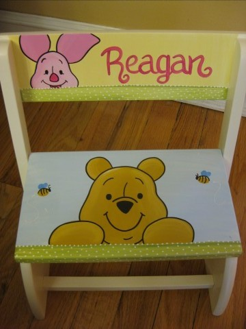 Chair Flip Step Stool Pooh Bear