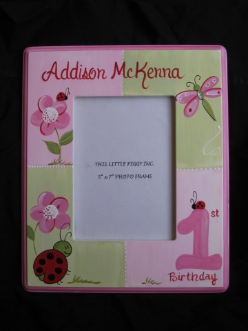 Picture Frame 5x7 Red Ladybug First Birthday