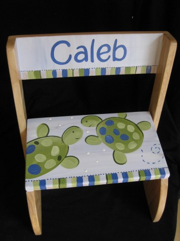 Chair Flip Step Stool Turtle Reef
